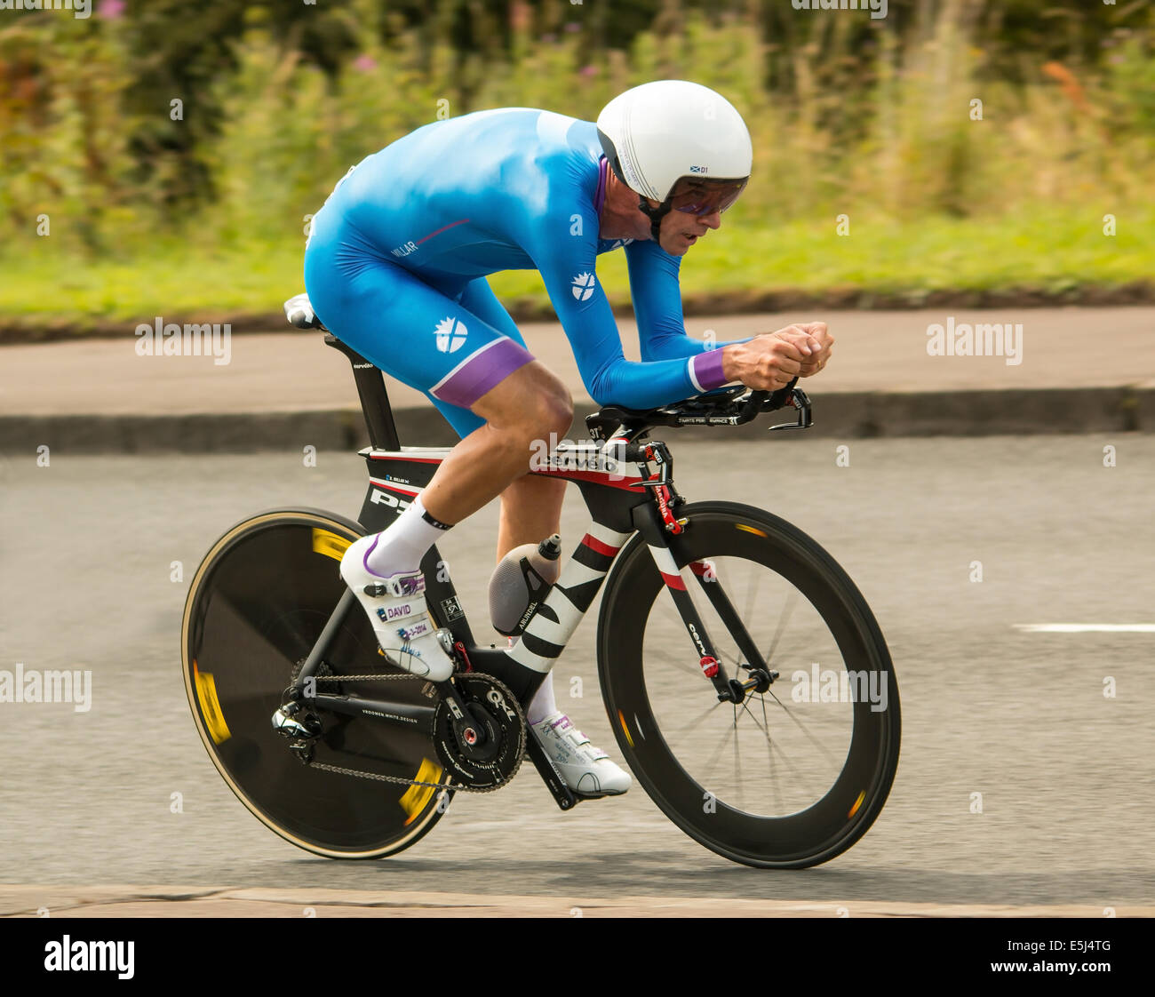 Commonwealth mens cycling time trial - Stock Image
