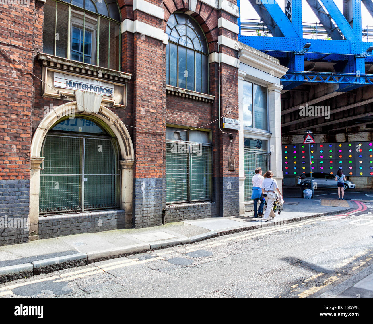 Old factory - Hunter-Penrose printing consumables and equipment business in Southwark, London, UK - Stock Image