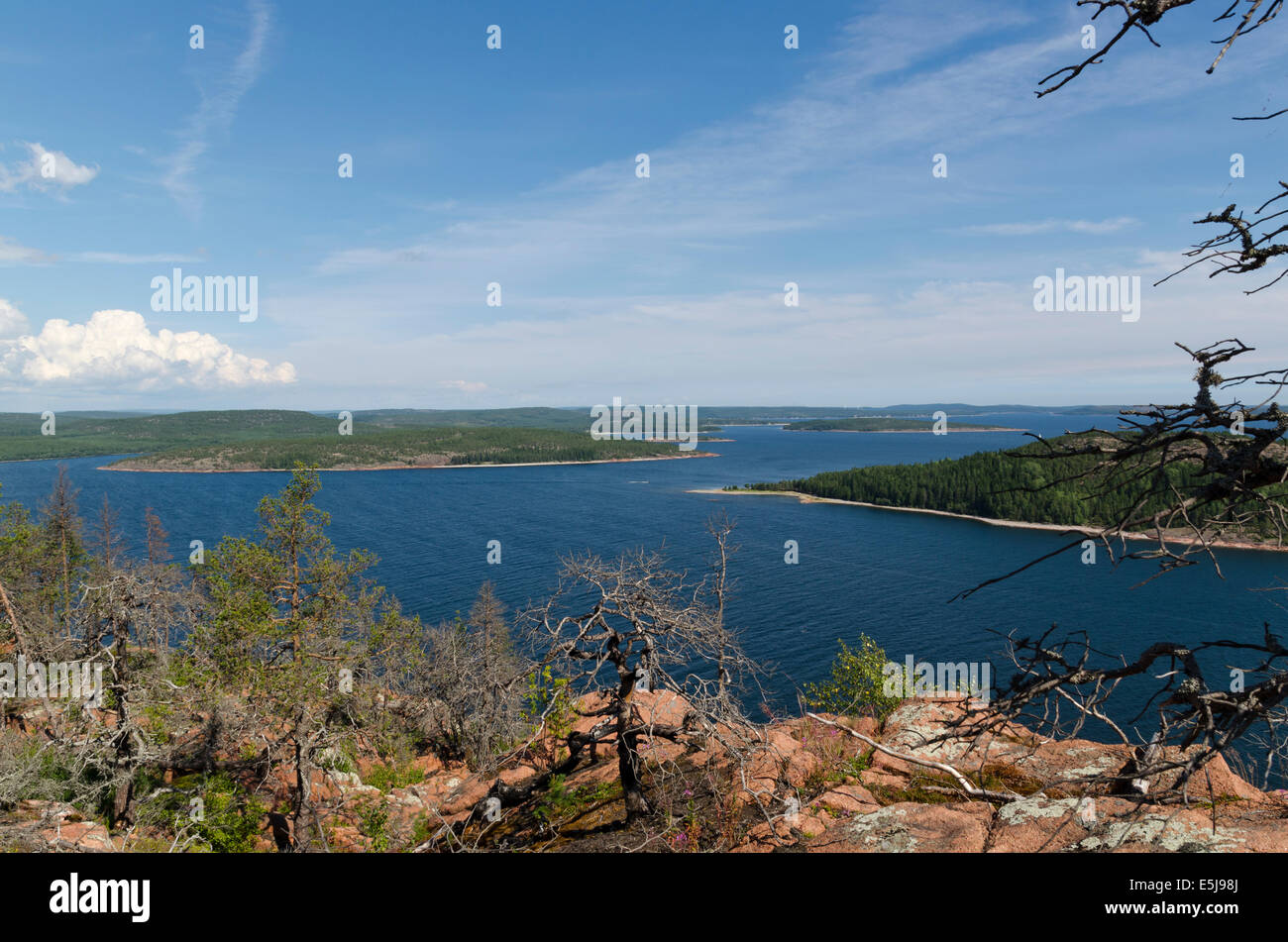 View from a mountain in the 'High Coast' - Stock Image