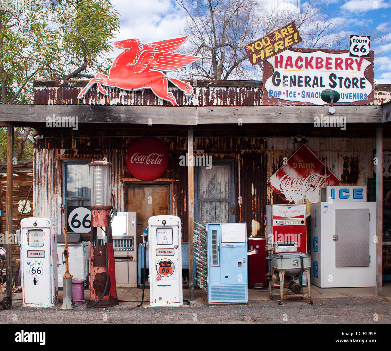 Hackberry General Store in Arizona on old Route 66 Stock Photo