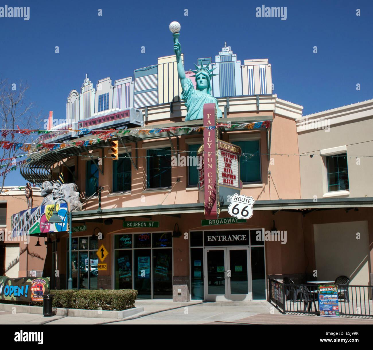 American Landmarks at a mall in Prescott Valley Arizona - Stock Image