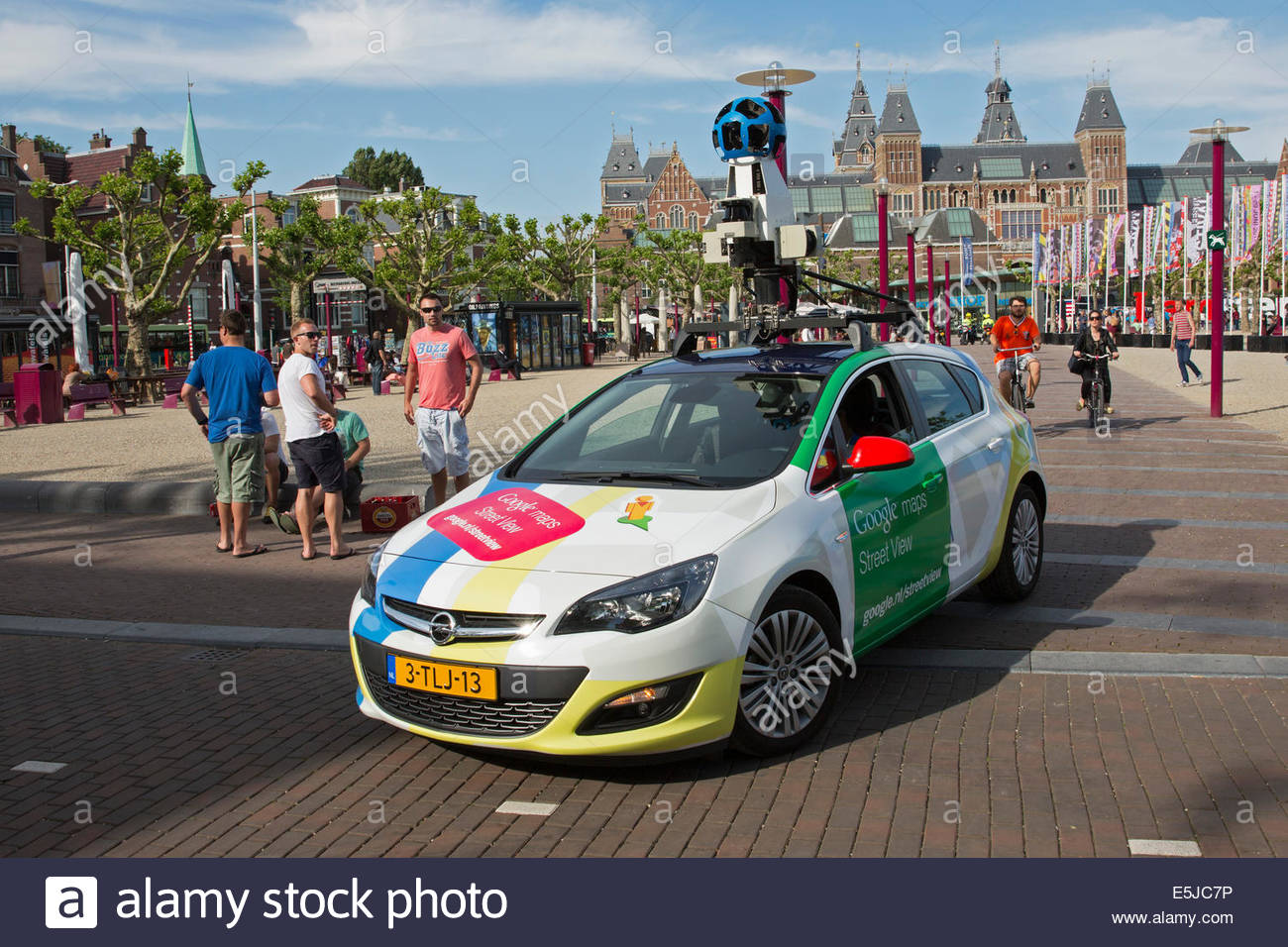 Netherlands amsterdam google maps street view recording car on netherlands amsterdam google maps street view recording car on museumplein publicscrutiny Images