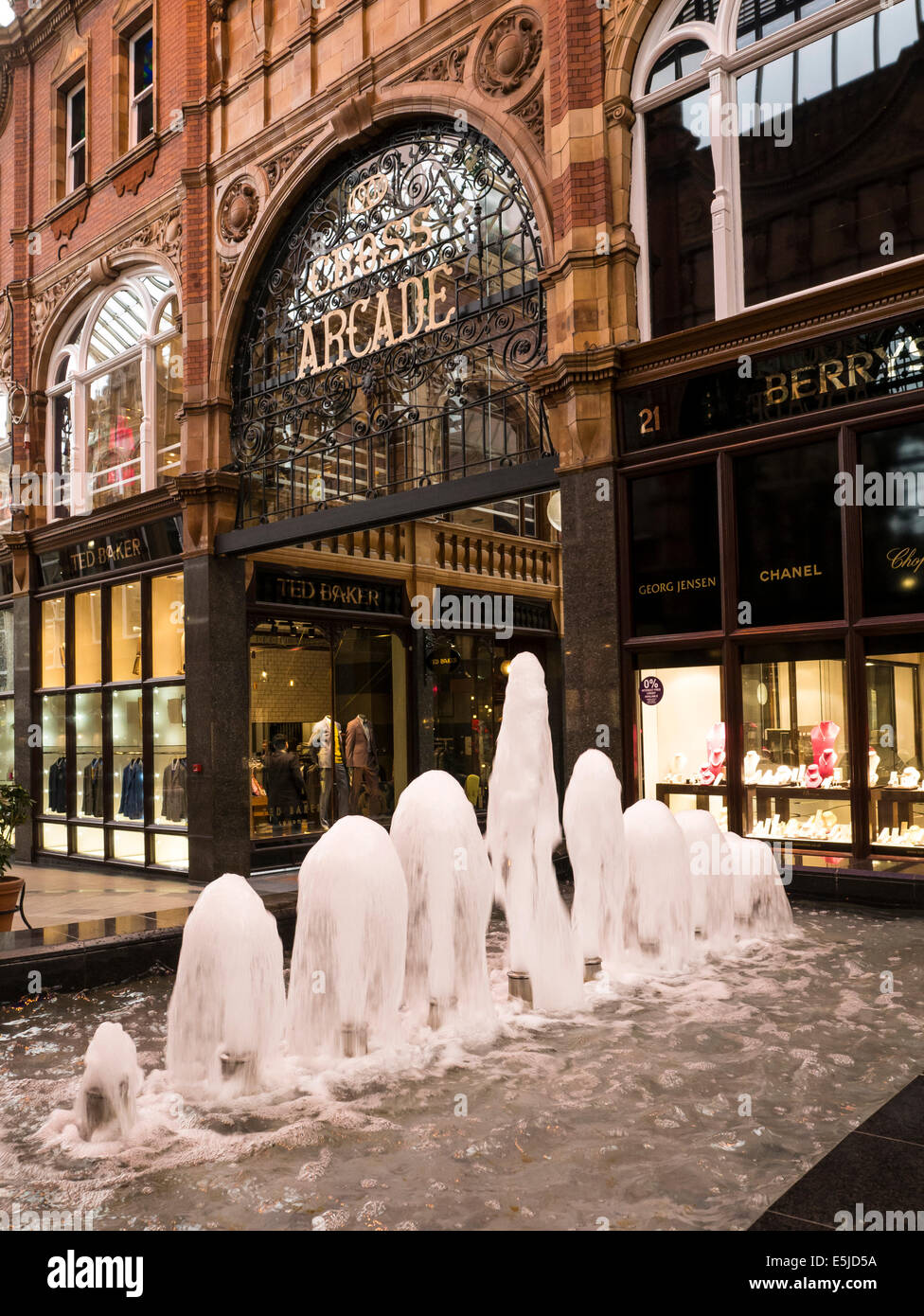 Victorian Arcade, Leeds City Centre, Yorkshire - Stock Image