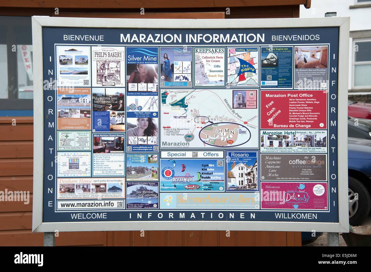 marazion tourist map uk united kingdom england great britain