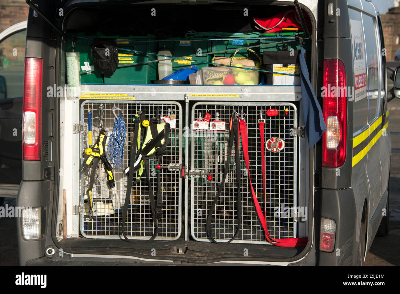 Fire & Rescue Service Search Dog Van Vehicle - Stock Image