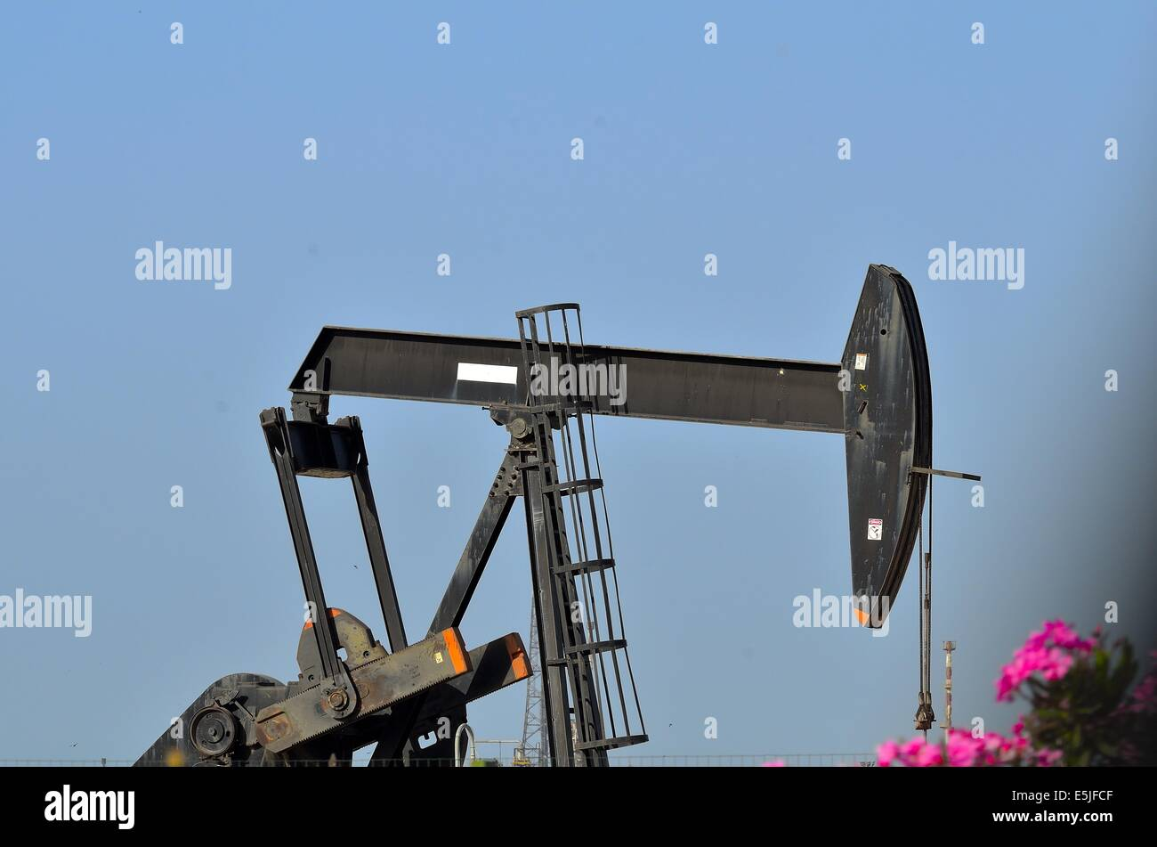 well, oil, - Stock Image