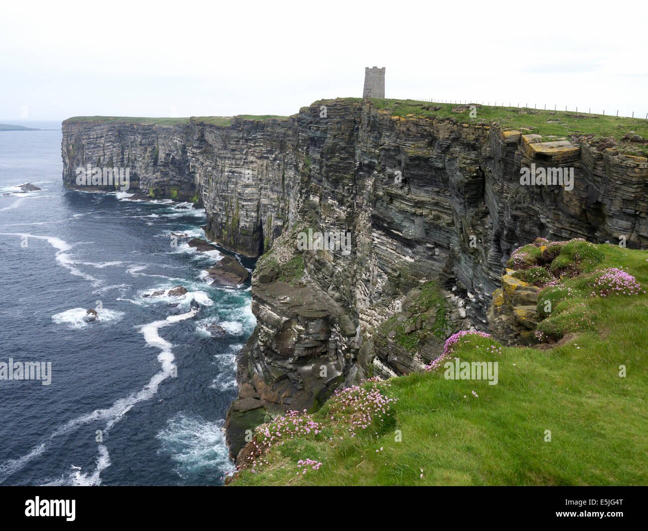 Marwick Head, Orkney mainland, June 2014 Stock Photo