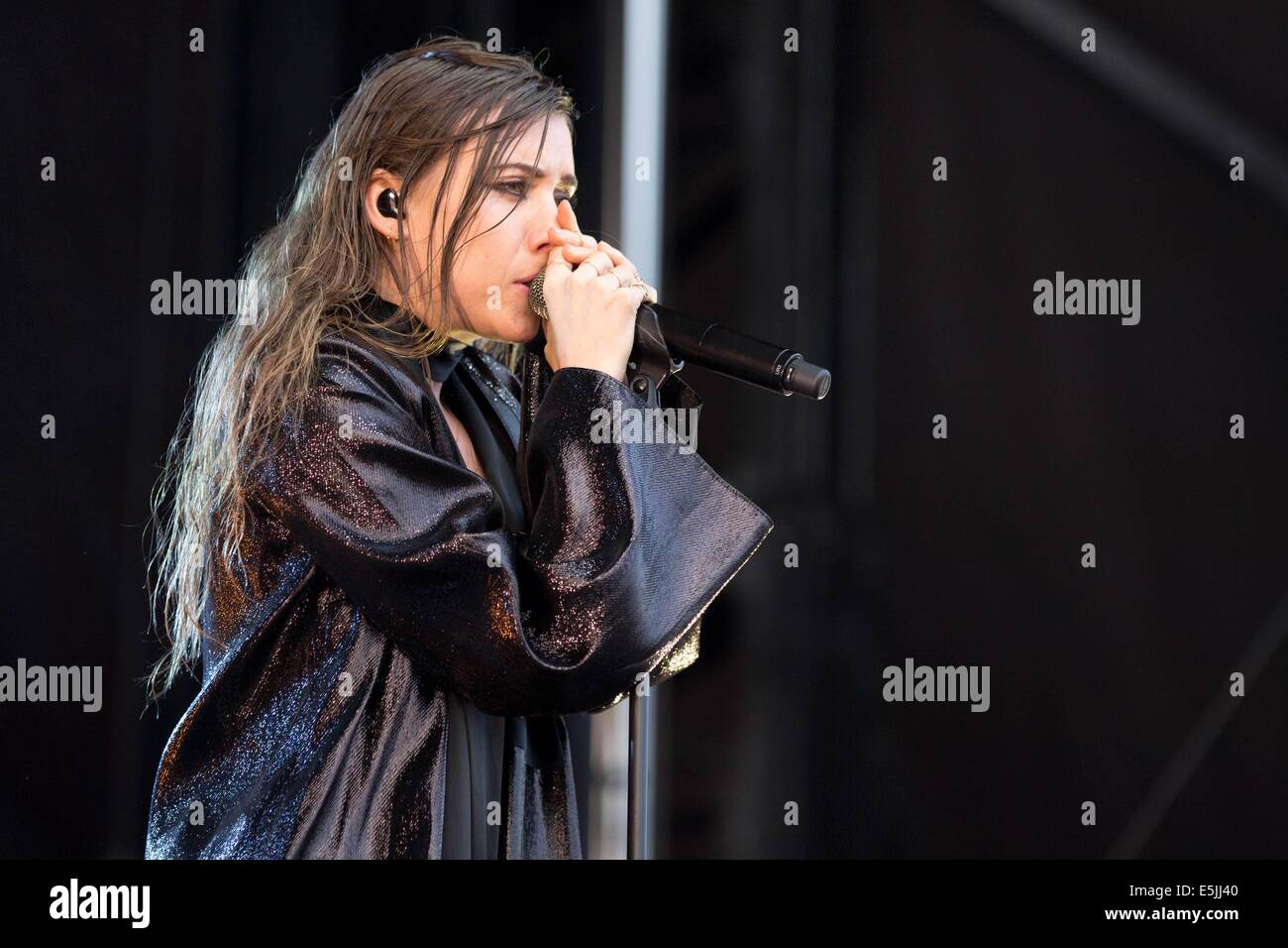 Chicago, Illinois, USA. 1st Aug, 2014. Vocalist LYKKE LI performs live at the 2014 Lollapalooza Music Festival in - Stock Image