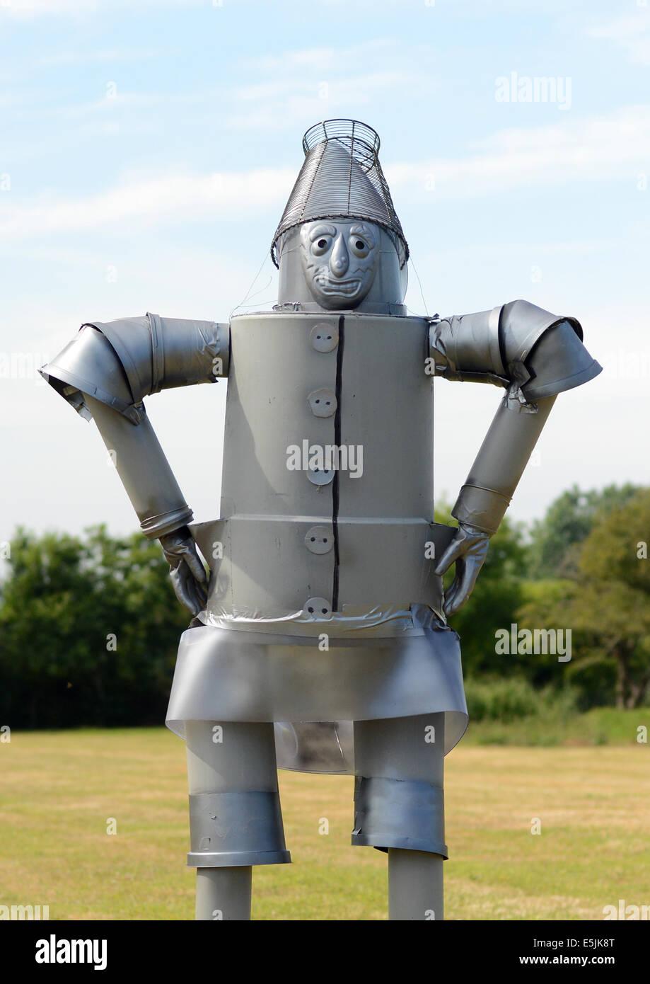 The Tin Man scarecrow - Stock Image