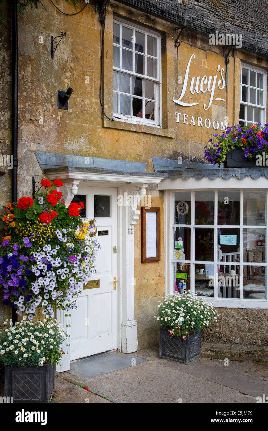 Lucy's Tearoom in Stow-on-the-Wold, the Cotswolds, Gloucestershire, England - Stock Image