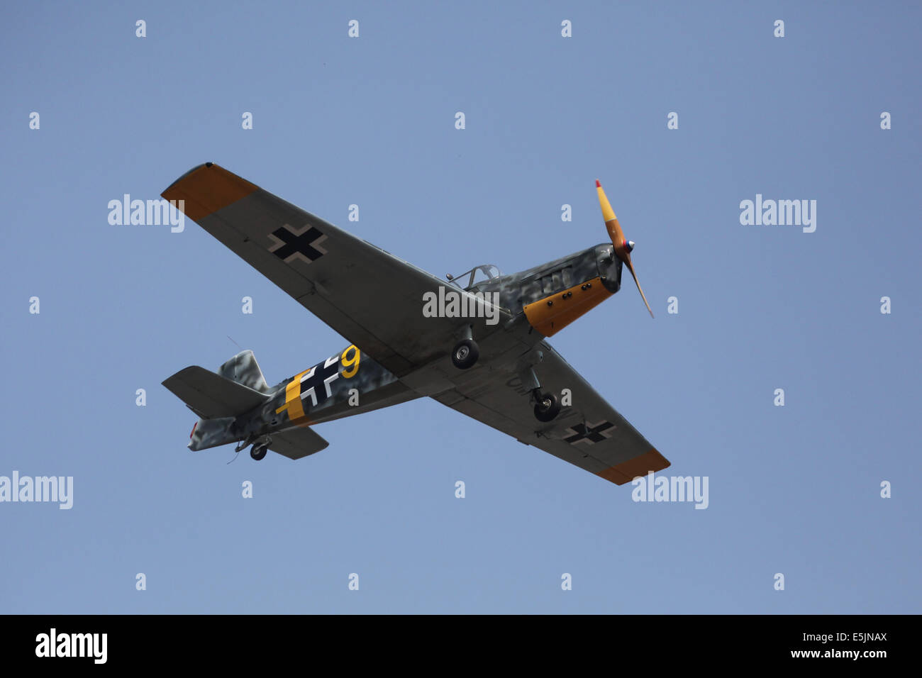 Zlin 226MS aircraft painted in colors of German Luftwaffe. - Stock Image