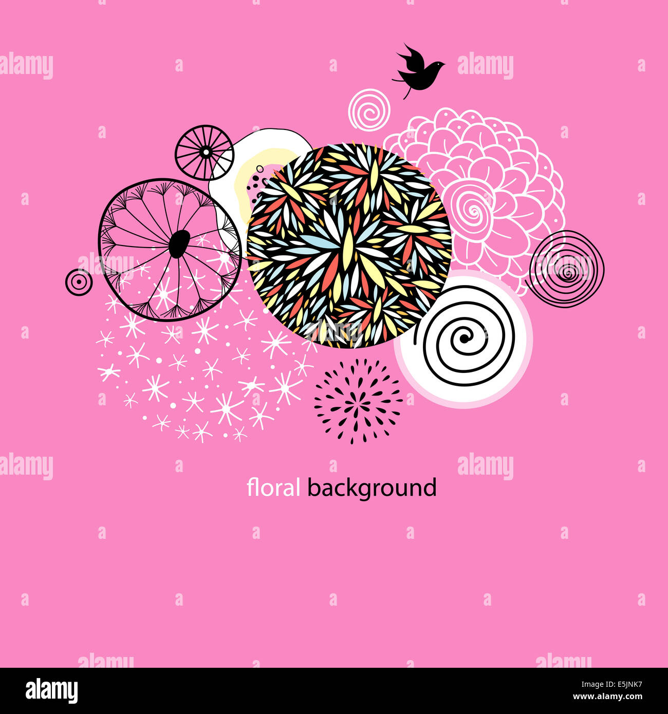 Beautiful designs of flowers and birds stock photo 72326891 alamy beautiful designs of flowers and birds izmirmasajfo