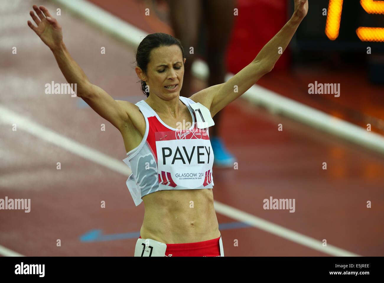 Hampden Park Glasgow 2 August 2014. Commonwealth Games day 10.  Women's 5000m final.  Gold - Mercy Cherono KEN; - Stock Image