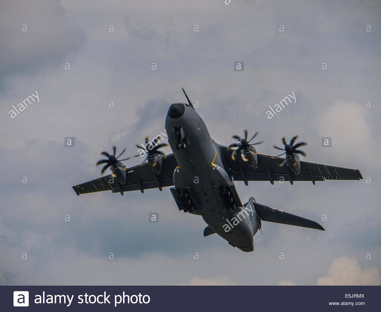 Farnborough Airshow  England  2014 Airbus A400M Military - Stock Image