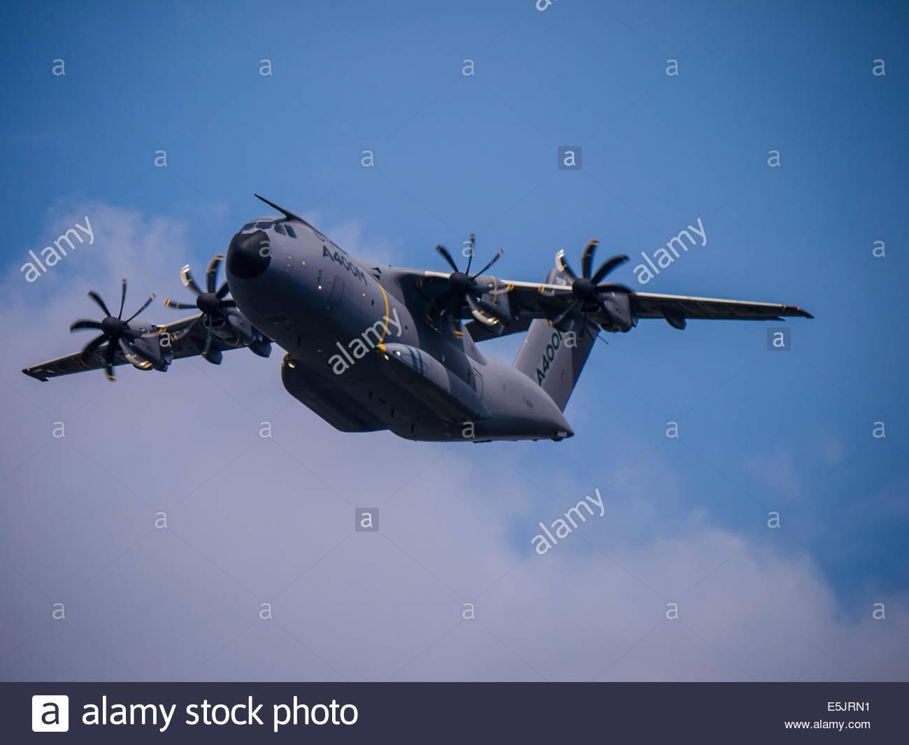 Farnborough Airshow 2014 Airbus A400M Military Transport - Stock Image