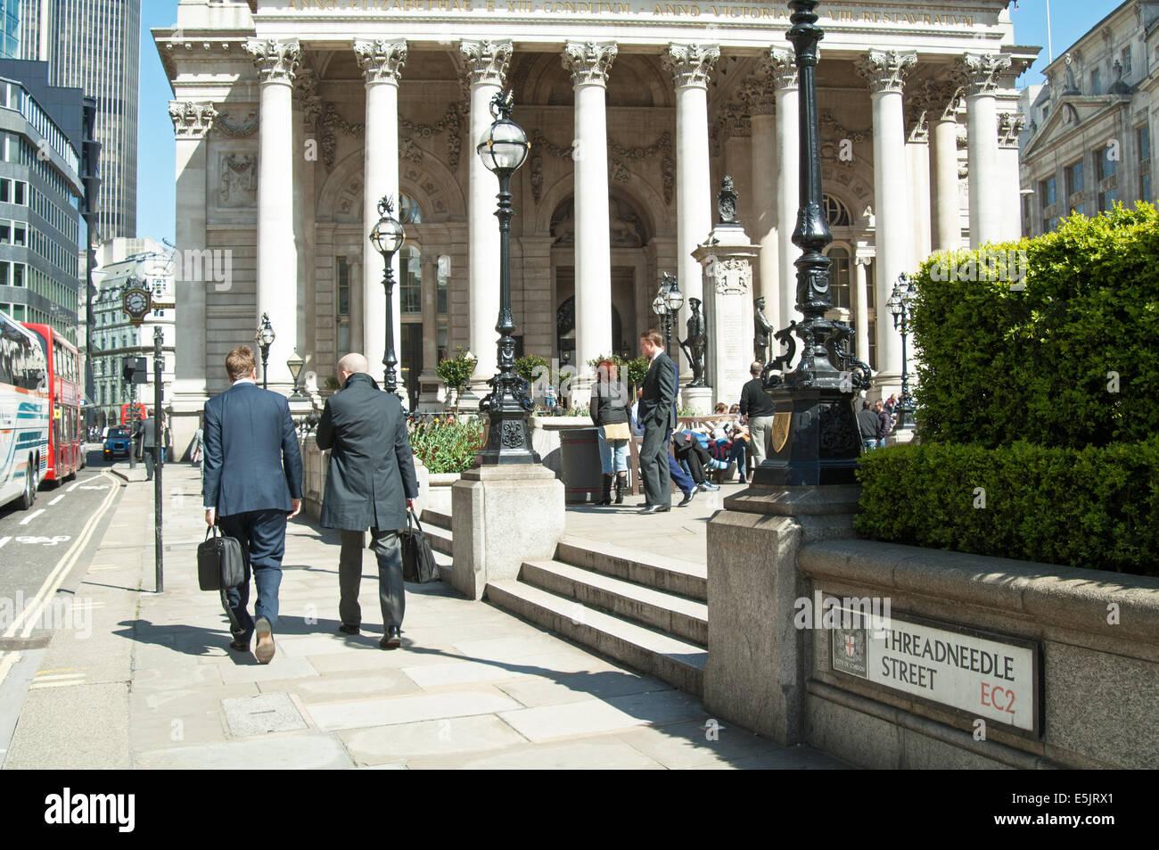 The Royal Exchange, Threadneedle Street, City of London. England. - Stock Image