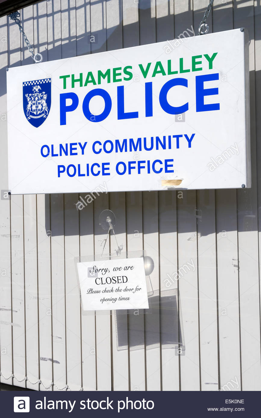 Community police office, Olney, Buckinghamshire, England UK - Stock Image