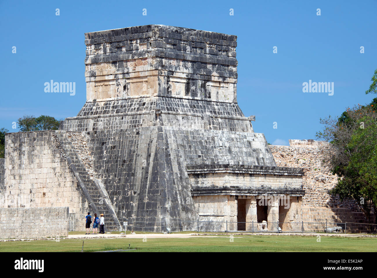 Temple of the Jaguars  Chichen Itza Yucatan Mexico - Stock Image