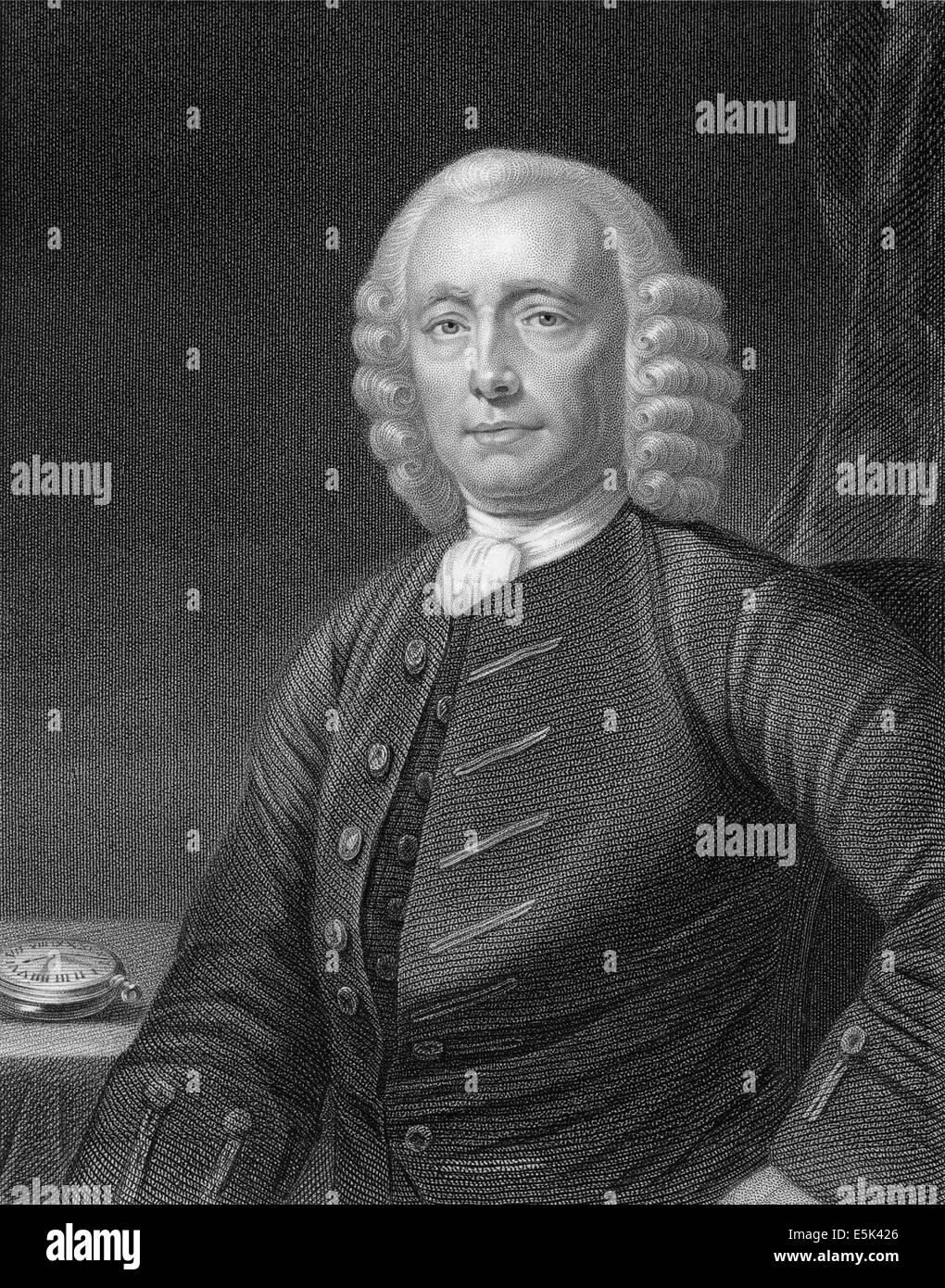 John Harrison, 1693-1776, English carpenter and clockmaker, Stock Photo