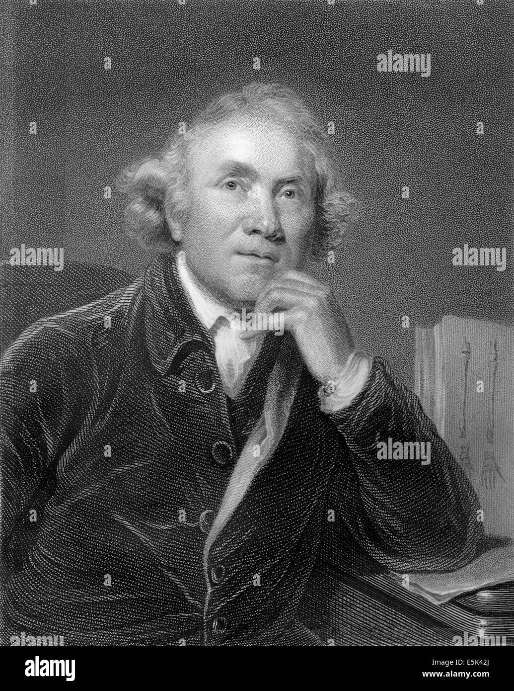 John Hunter, 1728-1793, a Scottish surgeon, - Stock Image