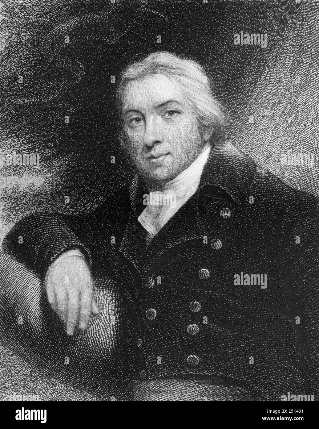 Edward Jenner, 1749-1823, an English physician and scientist, Stock Photo