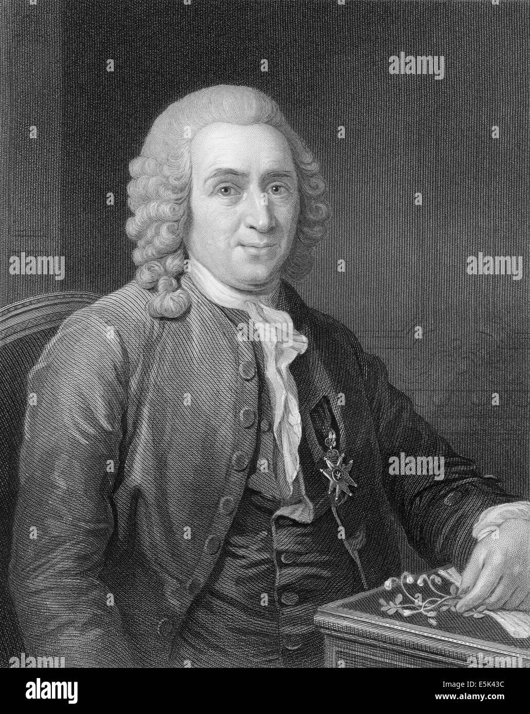 Carl Linnaeus,  or Carl von Linné, 1707-1778, a Swedish botanist, physician, and zoologist, Stock Photo