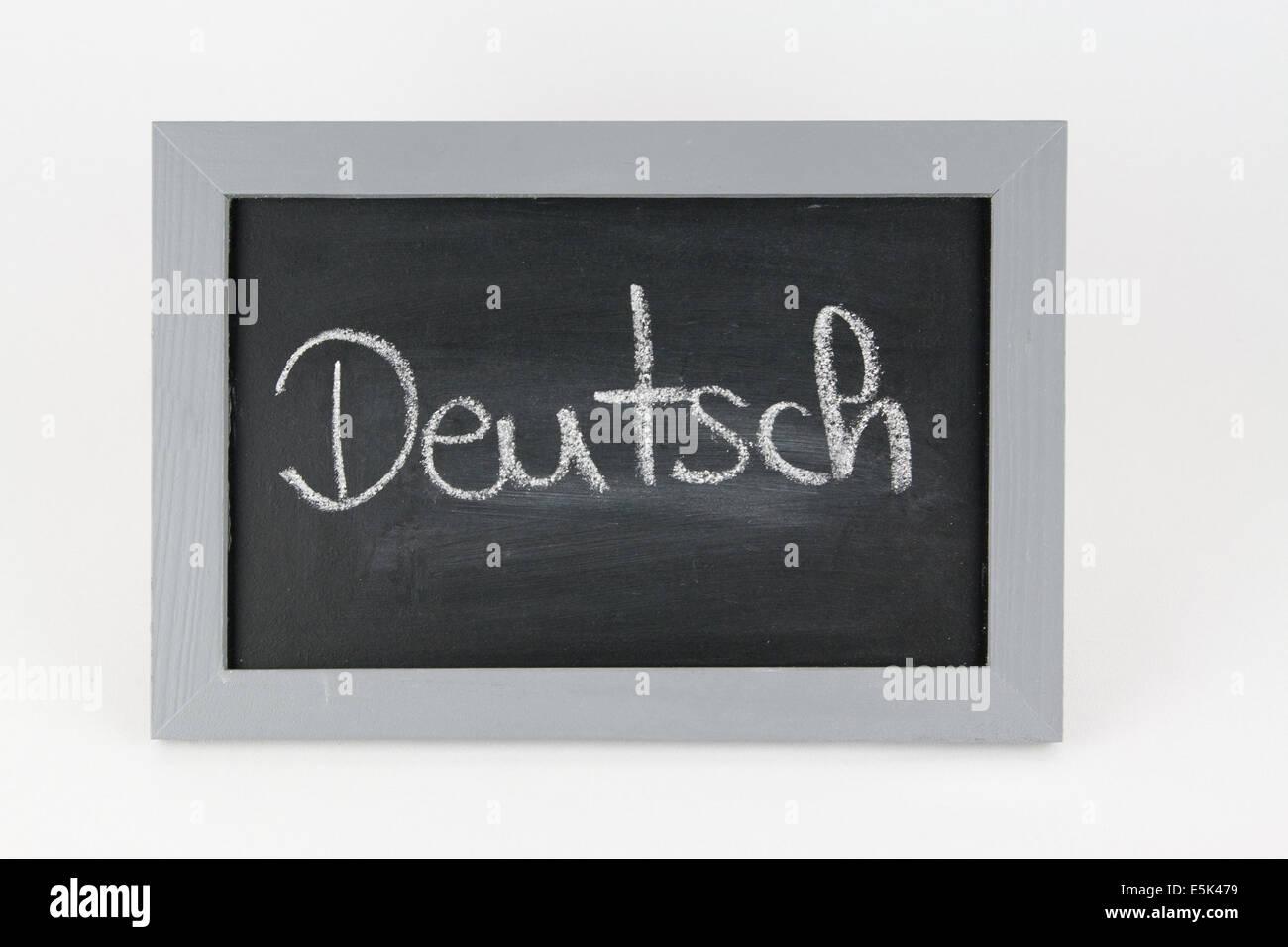 Tafel abc Alphabet Kreide Schule Schultafel Schulkreide Schulkinder schreiben Grammatik Rechtschreibung Zahl Zahlen - Stock Image
