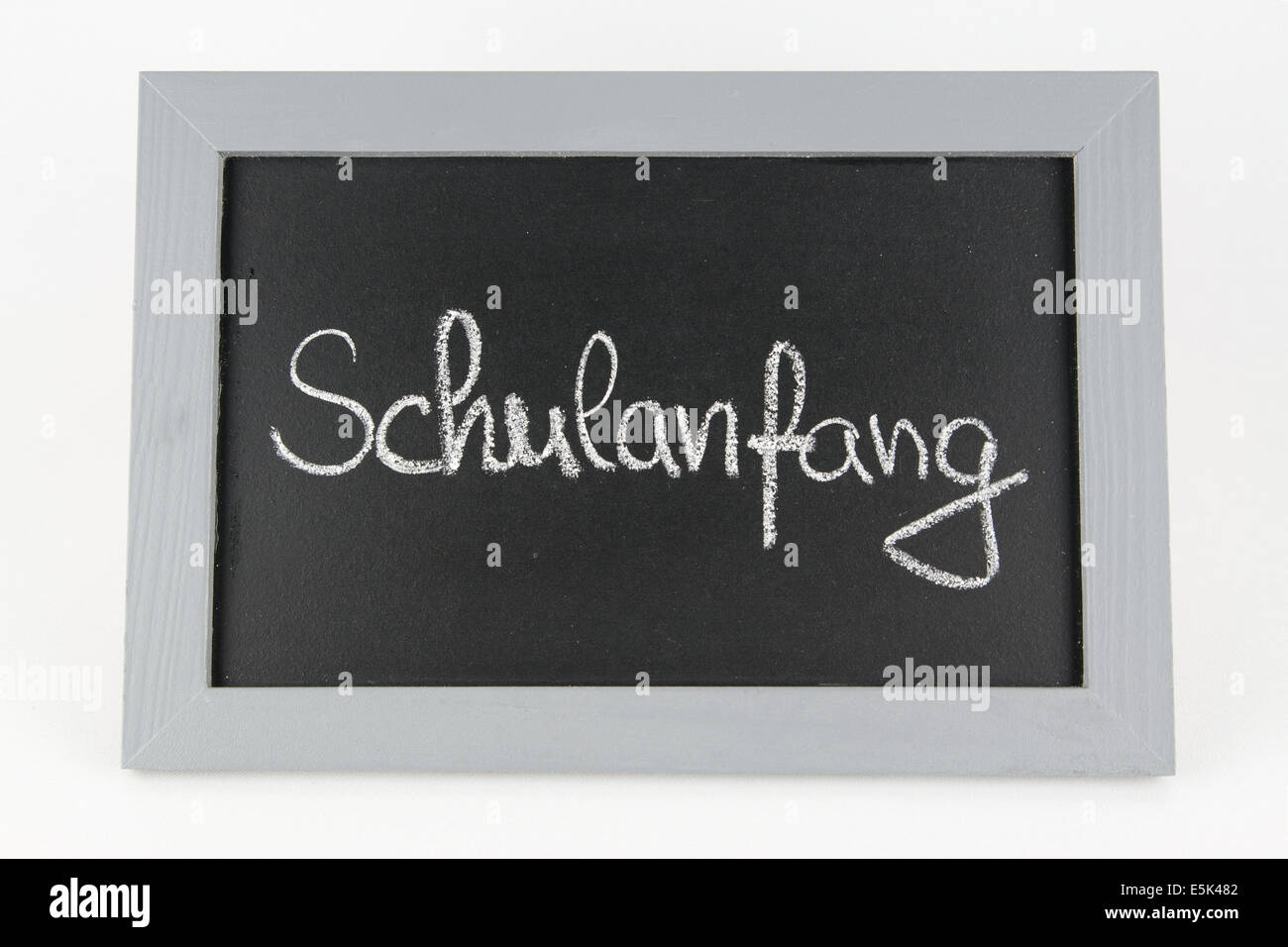 Tafel Schulanfang Ferien Urlaub Sommerpause Ferienzeit Sommerferien Kinder Mitschueler Frei Schulfrei Lernpause - Stock Image