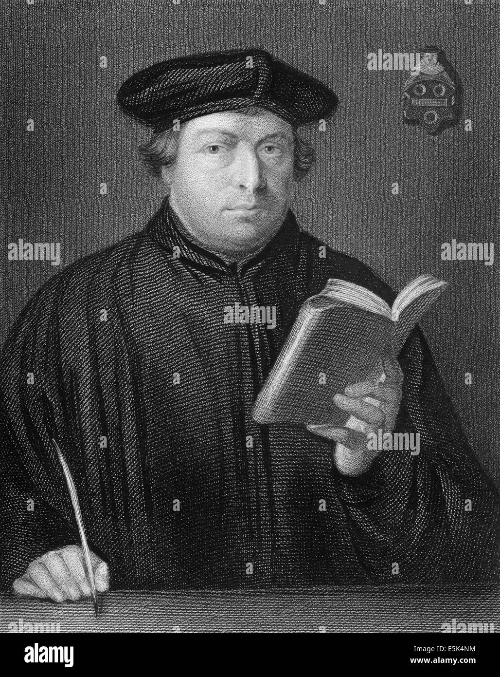 Martin Luther, 1483 - 1546, theologian and reformer, Stock Photo