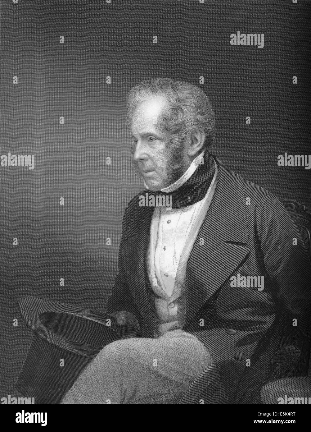 Lord Henry John Temple, 3rd Viscount Palmerston, 1784 - 1865, British statesman and Prime Minister, - Stock Image