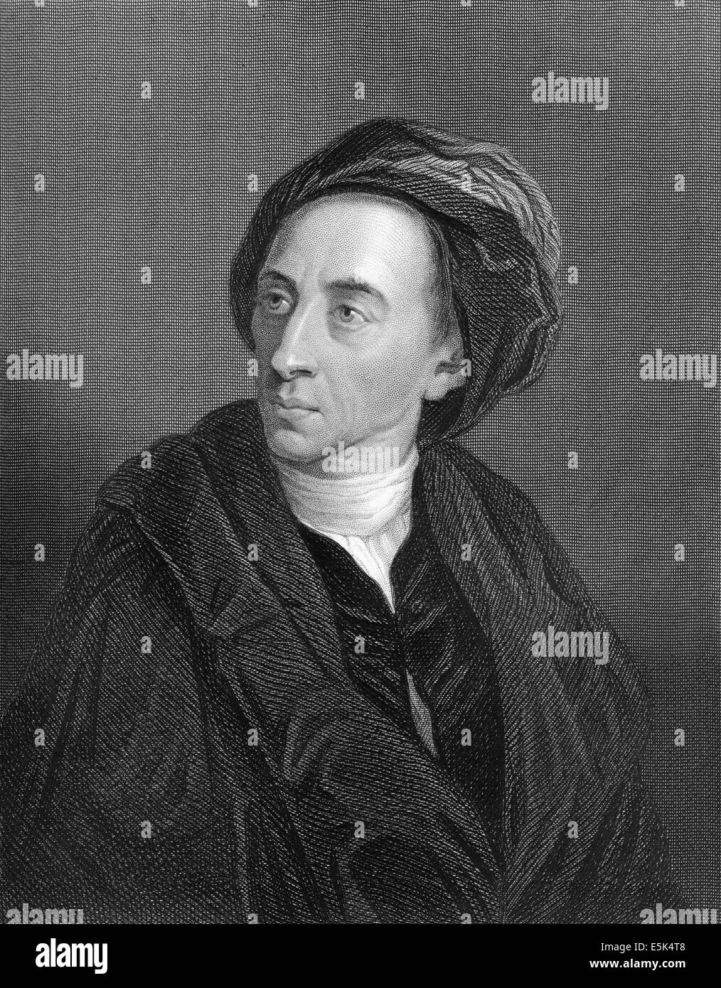 Alexander Pope, 1688 - 1744, an English poet, translator and writer of Neoclassicism, - Stock Image