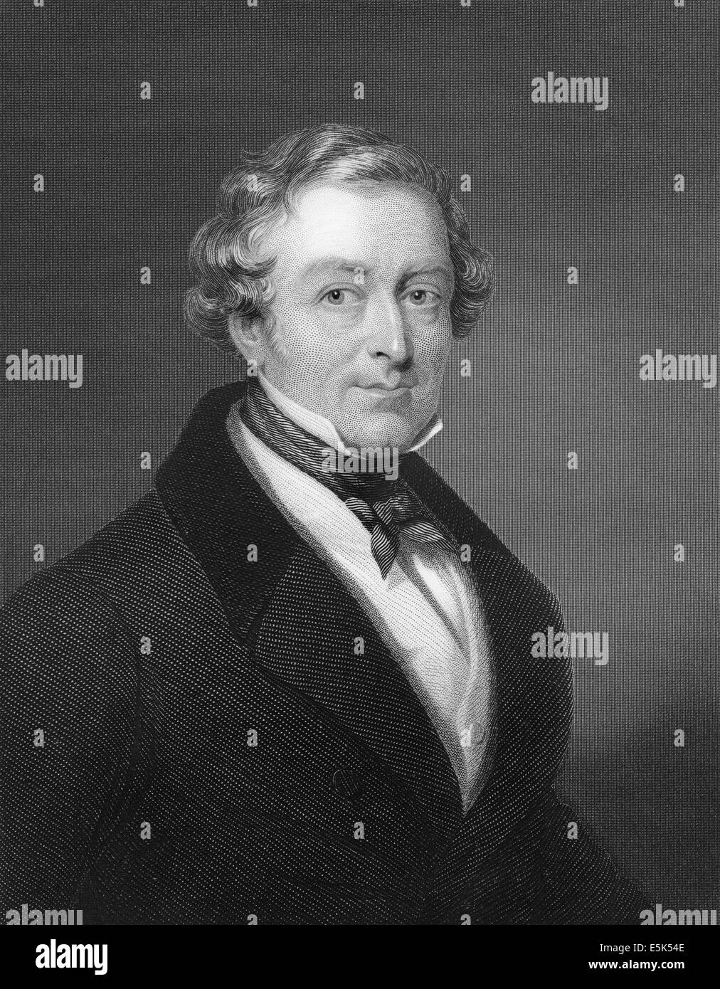 Sir Robert Peel, 1788 - 1850, 2nd Baronet Peel of Clanfield, a British politician, prime minister and founder of - Stock Image