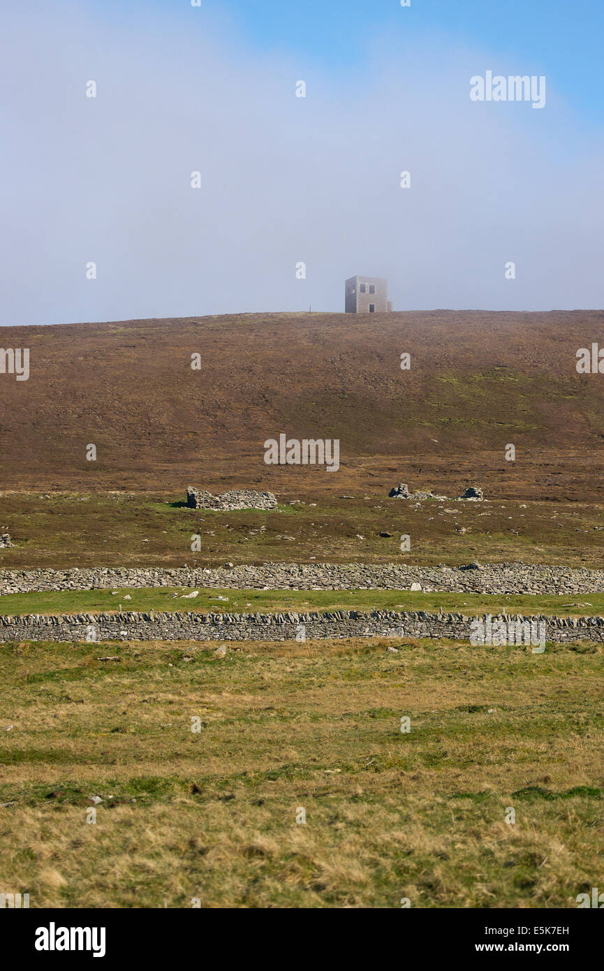 World war 1 look out tower on Anderson hill Bressay island, Shetland Stock Photo