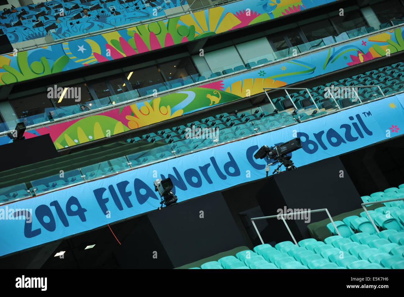 Arena Fonte Nova, Fifa World Cup 2014, Salvador da Bahia, Brazil. Editorial use only. - Stock Image