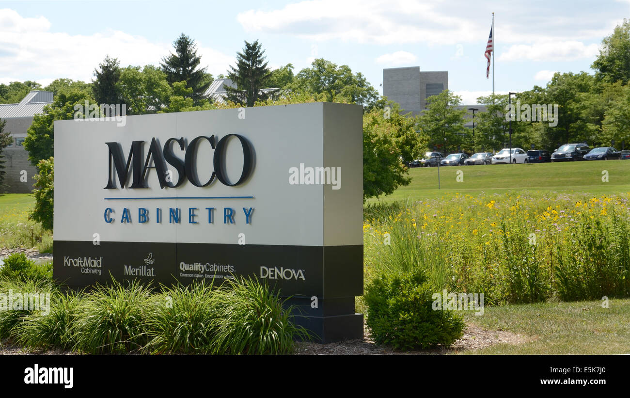 ANN ARBOR, MI - JULY 24: Masco cabinetry, whose research and development operation in Ann Arbor, MI is shown on Stock Photo