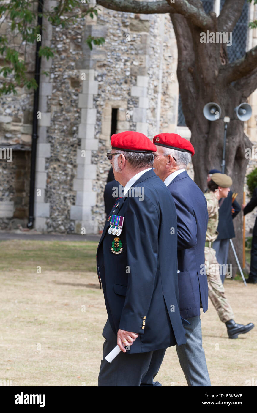 Chichester West Sussex UK, 3rd August 2014. A drumhead service was held in Priory Park Chichester to mark the centenary - Stock Image