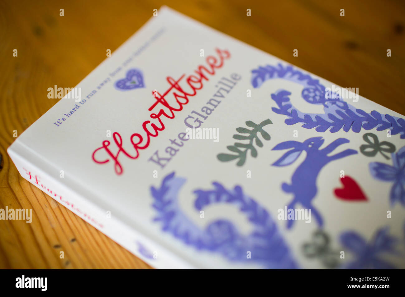 The book 'Heartstones' written by Kate Glanville. - Stock Image