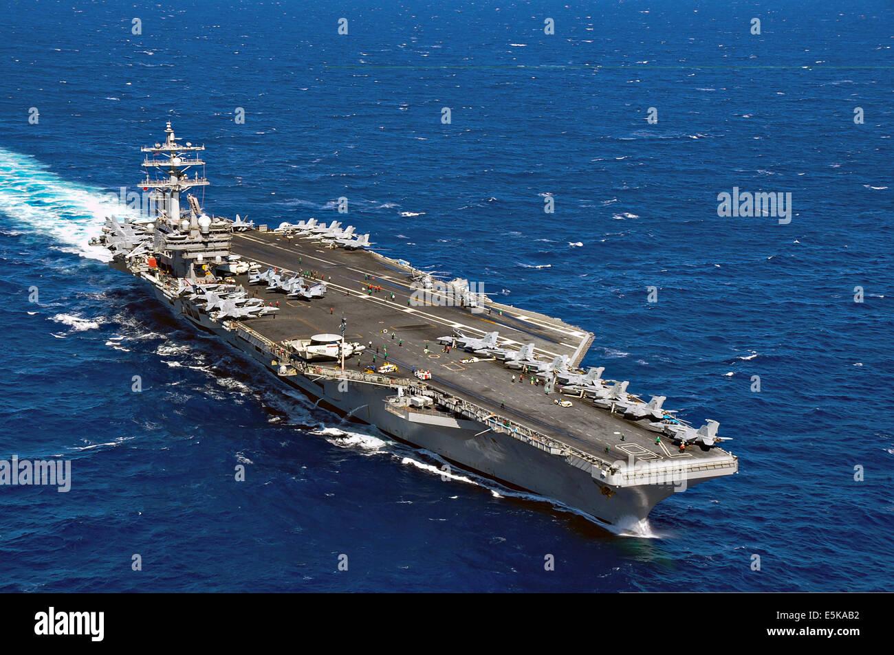 us navy nimitz class nuclear powered supercarrier uss ronald reagan