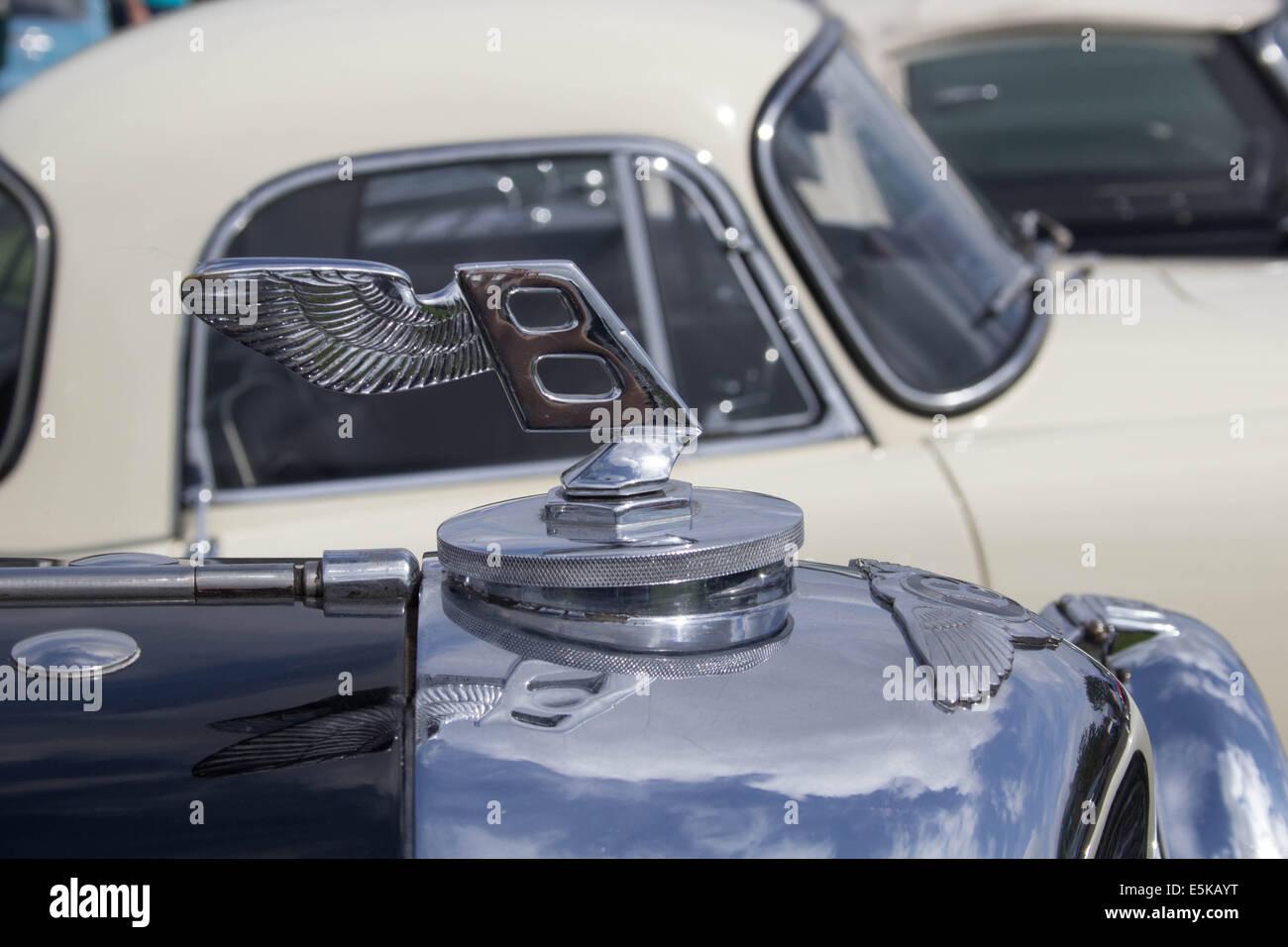 Classic Bentley Motors, Badge - Stock Image