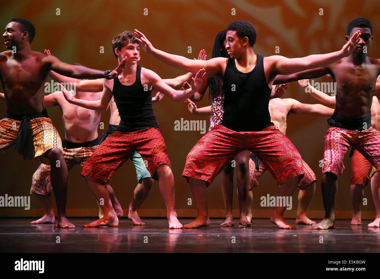 High school student theater dance performance - Stock Image