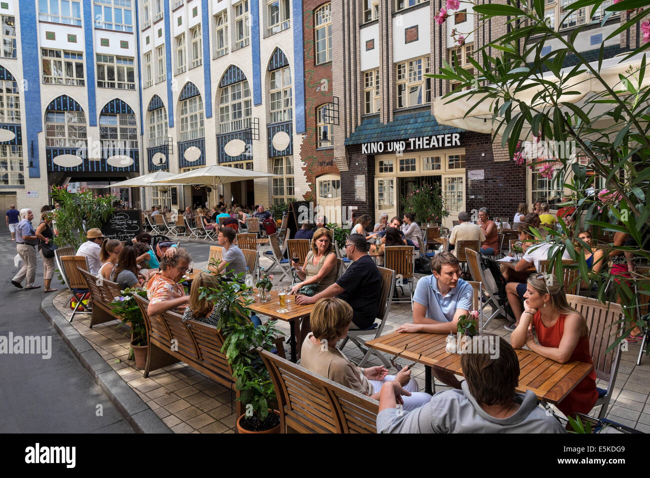 busy cafe in courtyard at historic hackescher markt in mitte berlin stock photo 72342489 alamy. Black Bedroom Furniture Sets. Home Design Ideas