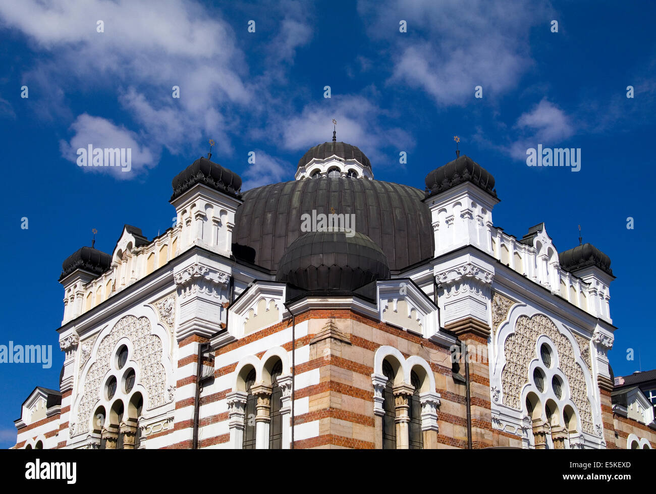 The Central Synagogue in Sofia, Bulgaria - Stock Image