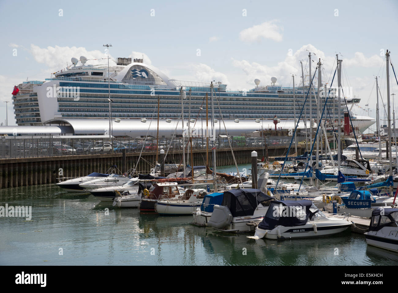 Port of Southampton England UK The Ruby Princess cruise liner seen from Town Quay - Stock Image