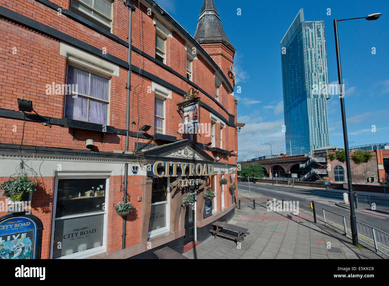 The City Road Inn traditional English city pub, located on Albion Street, Manchester, UK. Stock Photo