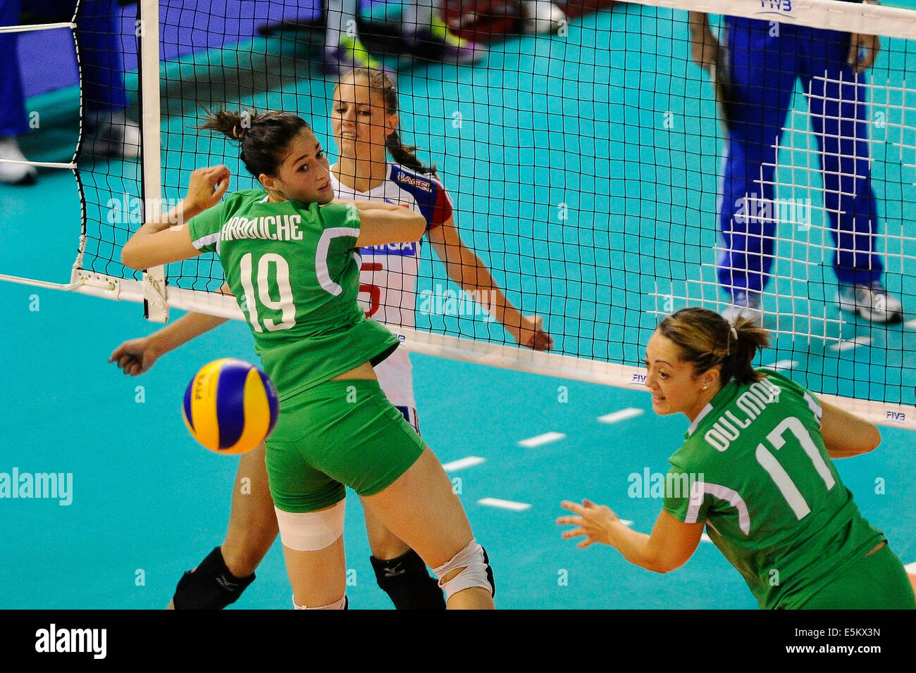 From left: Kahina Arbouche of Algerie, Klara Vyklicka of Czech Republic and Lydia Ulmu of Algeria pictured duringStock Photo