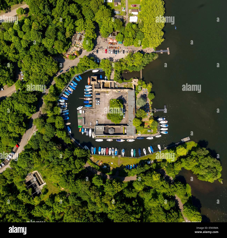 Haus Scheppen Manor House On Lake Baldeney Aerial View Fischlaken