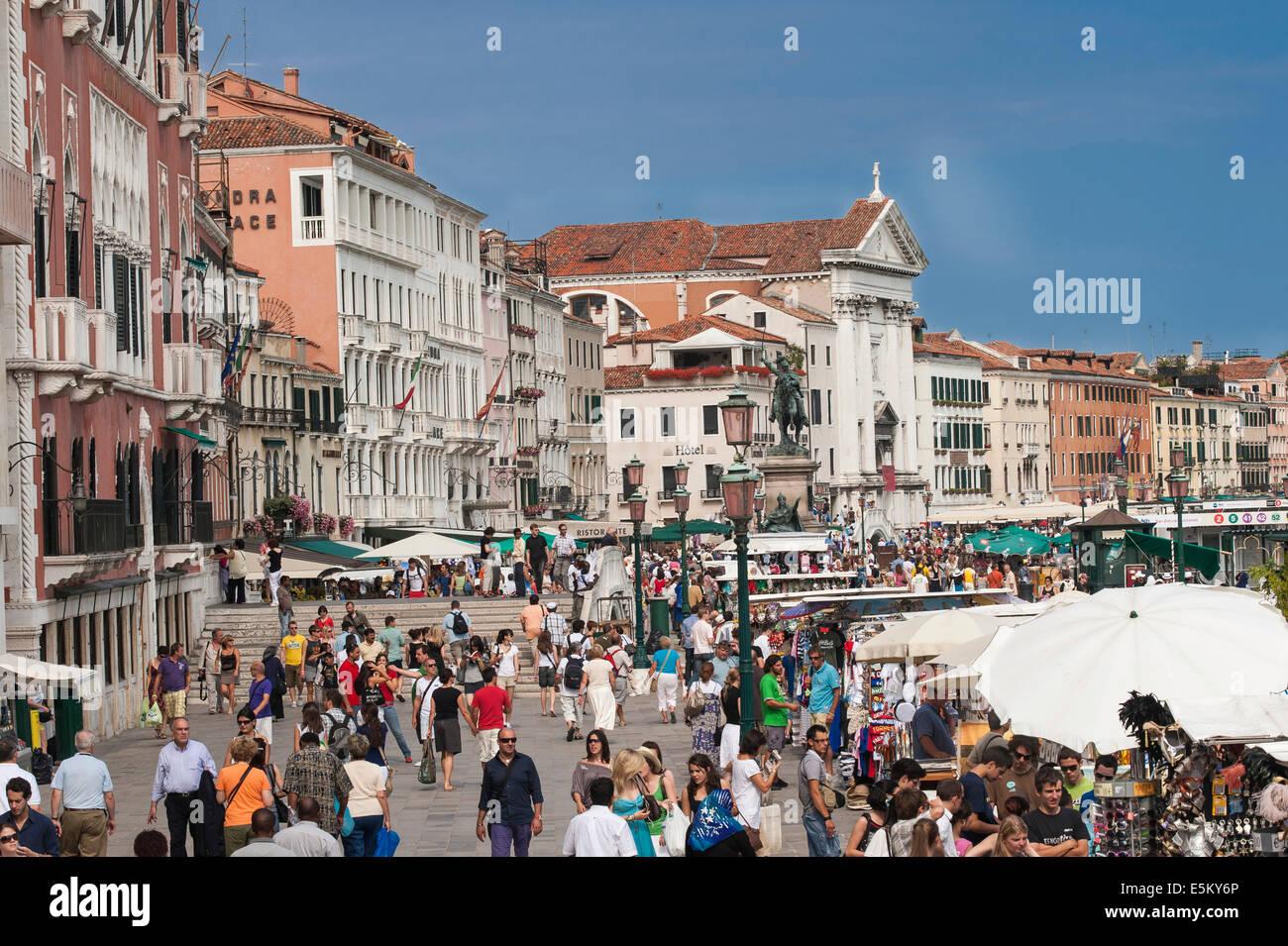 The Riva degli Schiavoni quay, Venice, Veneto, Italy - Stock Image