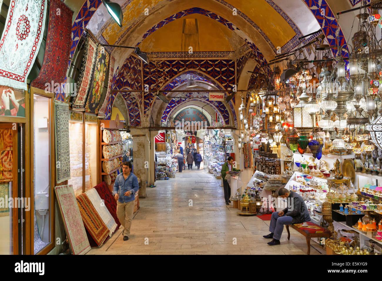 Grand Bazaar or Kapalı Çarşı, Beyazit, European part, Istanbul, Turkey - Stock Image