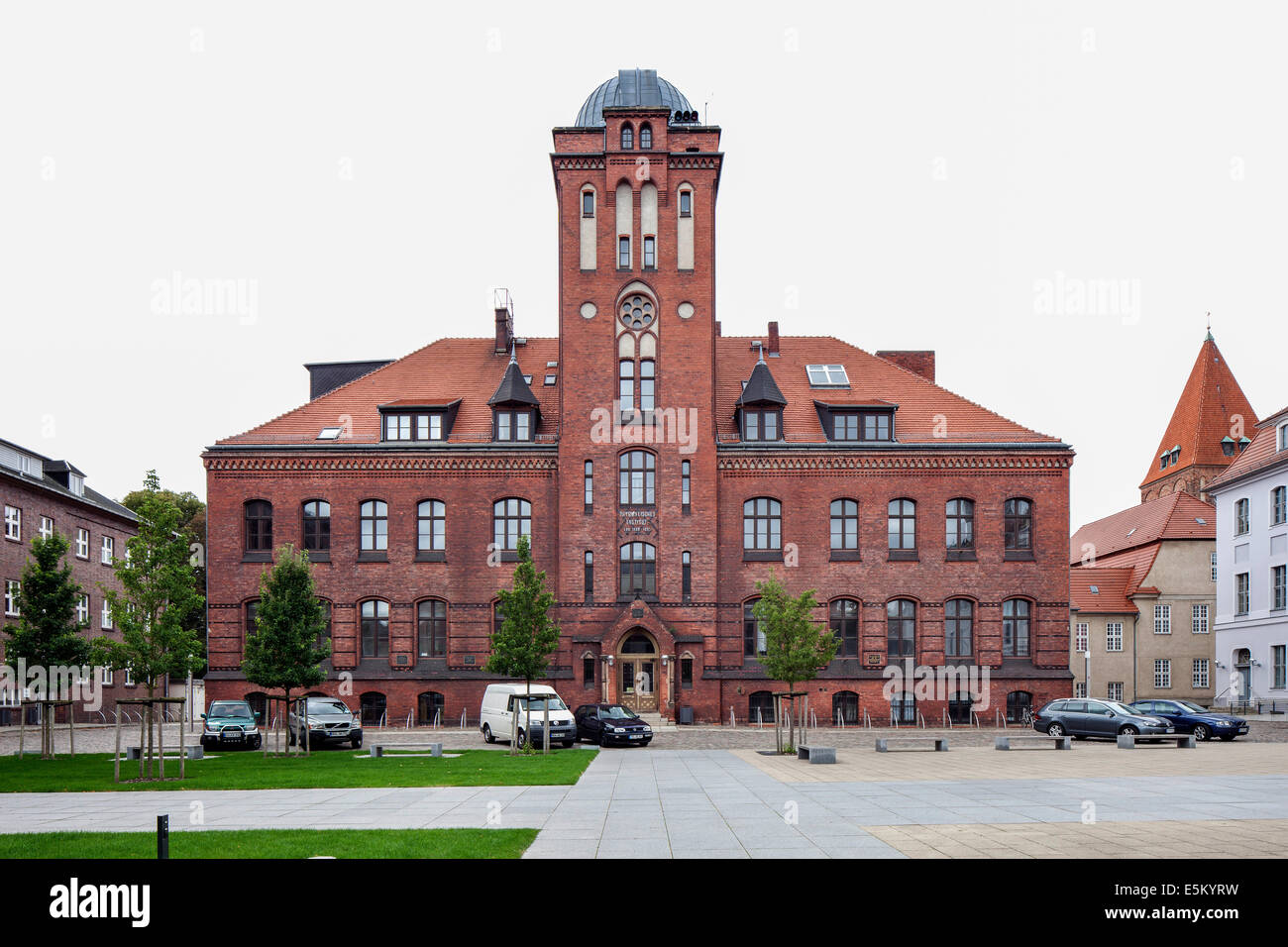 Institute of Physics, University of Greifswald, Hanseatic City of Greifswald, Mecklenburg-Western Pomerania, Germany - Stock Image
