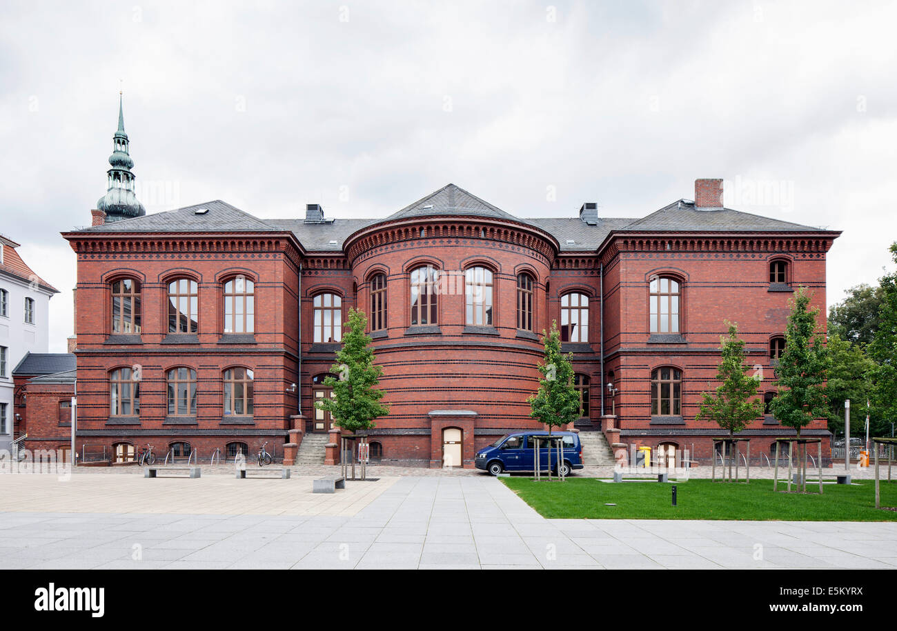 Lecture hall with the Auditorium Maximum, Hanseatic City of Greifswald, Mecklenburg-Western Pomerania, Germany - Stock Image